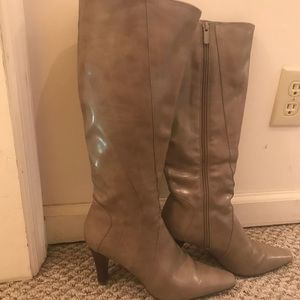 IMPO oatmeal colored knee high boots